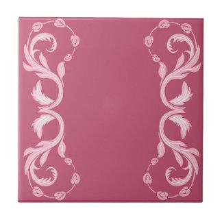 Azulejo De Cerámica En el rosa