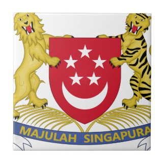 Azulejo De Cerámica Escudo de armas del emblema del 新加坡国徽 de Singapur