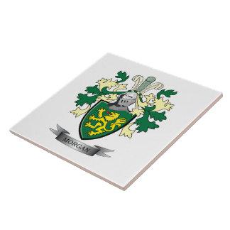 Azulejo De Cerámica Escudo de armas del escudo de la familia de Morgan