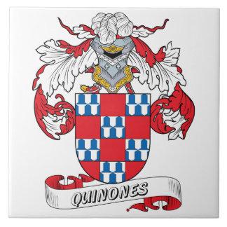 Azulejo De Cerámica Escudo de la familia de las quinonas