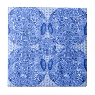 Azulejo De Cerámica Esferas psicodélicas azules