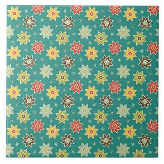 Azulejo De Cerámica estampado de plores retro 70s