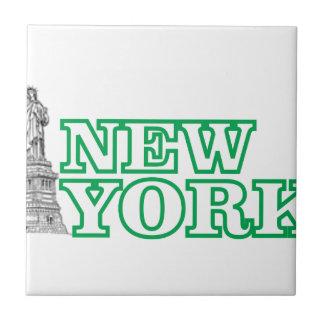Azulejo De Cerámica estatua verde del arte de la libertad