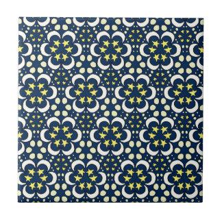 Azulejo De Cerámica Estrellas y tessellation de la luna