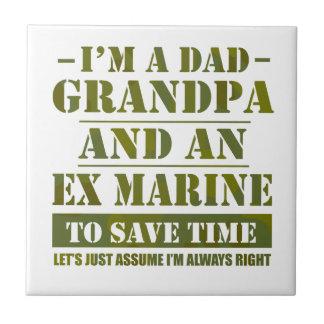 Azulejo De Cerámica Ex infante de marina