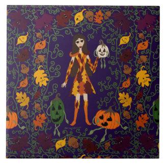 Azulejo De Cerámica Faerie del otoño
