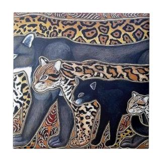 Azulejo De Cerámica Felinos de Costa Rica - Big cats