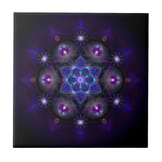 Azulejo De Cerámica Flor de la mandala de la vida