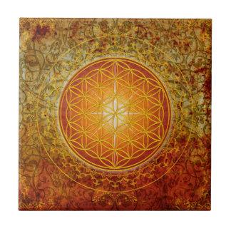 Azulejo De Cerámica Flor de la vida - ornamento III