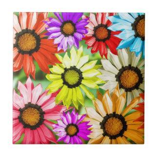 Azulejo De Cerámica Flores coloridas del Gerbera