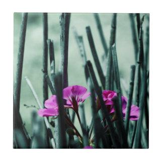 Azulejo De Cerámica Flores rosadas