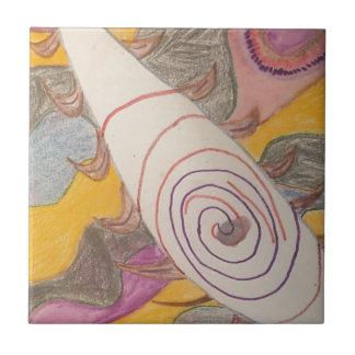 Azulejo De Cerámica Flotación en el vacío del arco iris