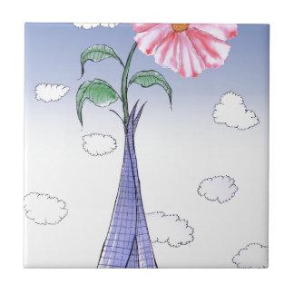 Azulejo De Cerámica Flower power de ShardArt de Tony Fernandes