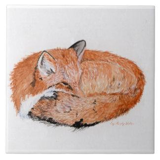 Azulejo De Cerámica Fox el dormir