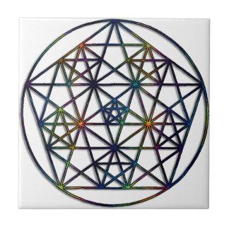 Azulejo De Cerámica Fractal sagrado de la geometría de la abundancia