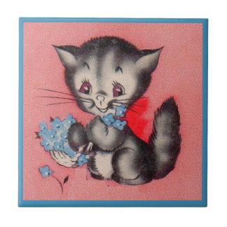 Azulejo De Cerámica gato dulce del gatito