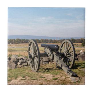 Azulejo De Cerámica Gettysburg: Una vista de la carga de Pickett