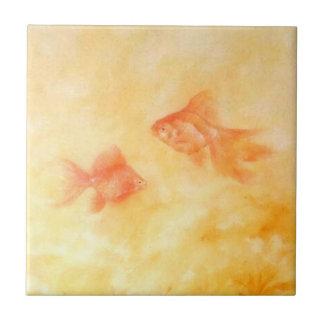 Azulejo De Cerámica Goldfish dos