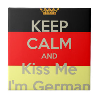 Azulejo De Cerámica guardar-tranquilo-y-beso-mí-yo-m-alemán
