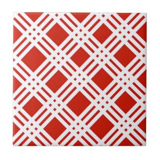 Azulejo De Cerámica Guinga roja y blanca