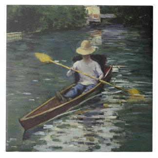 Azulejo De Cerámica Gustave Caillebotte - canoa en el Yerres