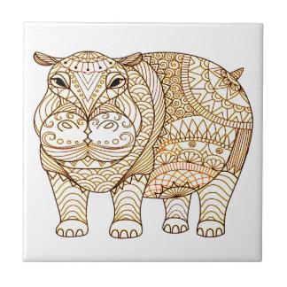 Azulejo De Cerámica Hipopótamo