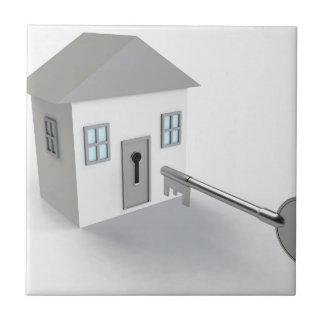 Azulejo De Cerámica Hogar dominante, agente inmobiliario, vendiendo