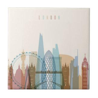 Azulejo De Cerámica Horizonte de la ciudad de Londres, Inglaterra el |