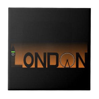 Azulejo De Cerámica Horizonte de Londres