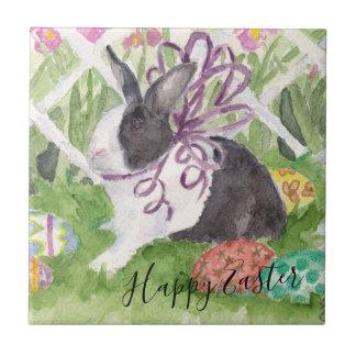 Azulejo De Cerámica Huevos de Pascua holandeses del conejo de la