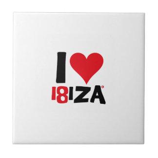 Azulejo De Cerámica I love Ibiza 18IZA Edición Especial 2018