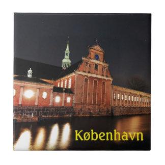 Azulejo De Cerámica Iglesia de Holmens (Kirke) en Copenhague,