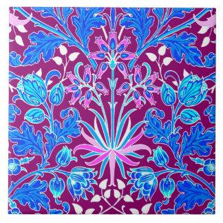 Azulejo De Cerámica Impresión, aguamarina y púrpura del jacinto de