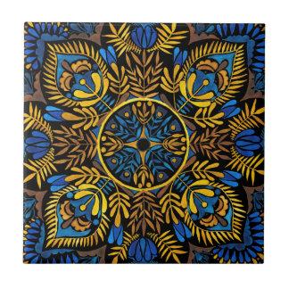 Azulejo De Cerámica Intensidad - modelo de la mandala del contraste