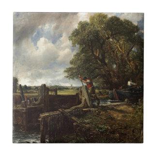 Azulejo De Cerámica John Constable - la cerradura - paisaje del campo