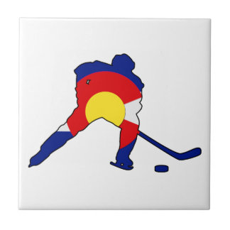 Azulejo De Cerámica Jugador de hockey de Colorado