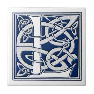 Azulejo De Cerámica L céltico monograma