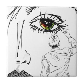 Azulejo De Cerámica La cara de la belleza