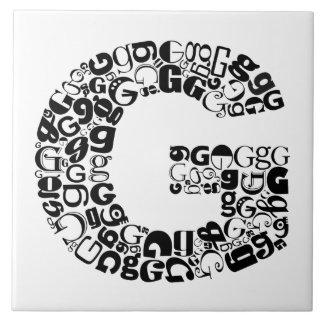 Azulejo De Cerámica La letra G del alfabeto