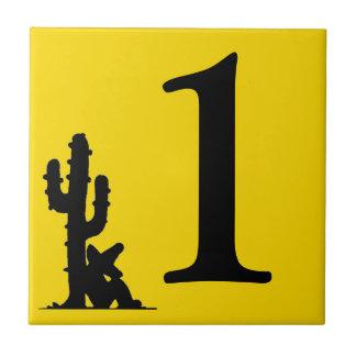 Azulejo De Cerámica La siesta por el cactus número caliente 1 del