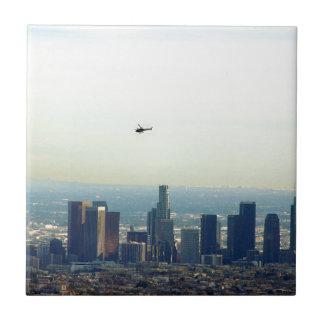 Azulejo De Cerámica LA y helicóptero