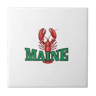 Azulejo De Cerámica langosta verde de Maine