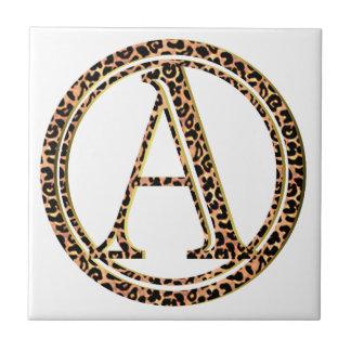 Azulejo De Cerámica leopardo A