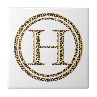 Azulejo De Cerámica Leopardo H