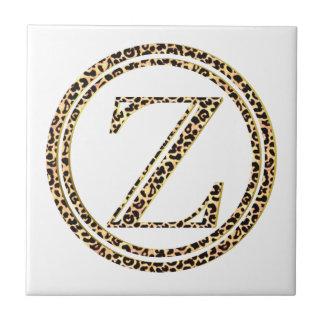 Azulejo De Cerámica Leopardo Z