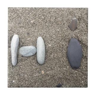 Azulejo De Cerámica Lindo simple con playas de la roca de la arena del