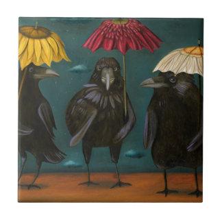 Azulejo De Cerámica Lluvia de los cuervos