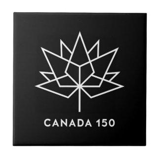 Azulejo De Cerámica Logotipo del funcionario de Canadá 150 - blanco y
