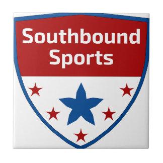 Azulejo De Cerámica Logotipo Southbound del escudo de los deportes
