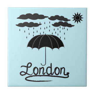 Azulejo De Cerámica Londres el | debajo de un paraguas